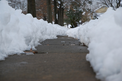 Sidewalk in the Snow