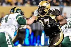 Winnipeg, Manitoba - Bisons Football vs Regina Rams October 2. Jeff Miller-Bison Sports-