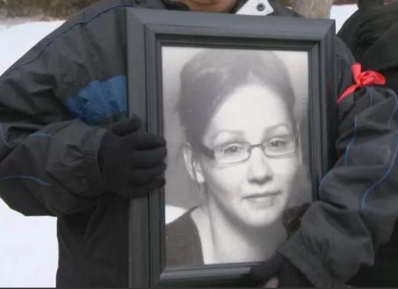 Picture of Nadine Machiskinic at a recent vigil in Regina