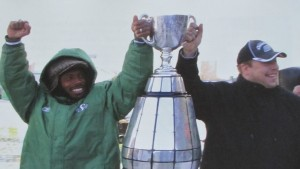 Eddie And Gene with Grey Cup