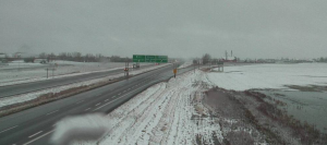 Hwy 1 near Moose Jaw courtesy Sask Highway Hotline camera