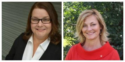 Katherine Gagne, Chair, Regina Board/Donna Ziegler,  Chair, Regina Catholic School Board