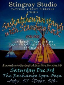 (Saskatchewan Stands with Standing Rock Facebook page)