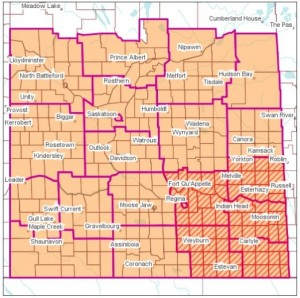 Environment Canada has issued a winter storm watch for Saskatchewan's southeast corner on Christmas Day. (Environment Canada)