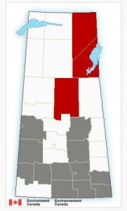 Fog advisories have been issued in grey areas. (Environment Canada)